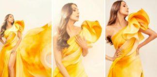 Malaika arora in yelo dress, malaika arora, LIVA Miss Diva 2020 grand finale
