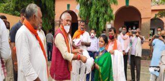 BJP MP janardan Singh Sigriwal, women quarantine center, Siwan, MP Maharajganj, Corona, Bhagwanpur hatt Block