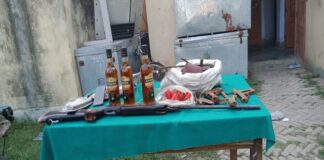 Saran Police, Amnaour police station, Mini gun factory, gandak diyara, sp har kishore rai, SP saran,