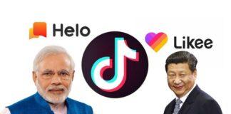 Chinese app, TikTok. hello. Likee